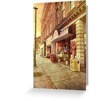 Sidewalk Sights Greeting Card