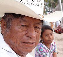 Grandfather With Grandchild - Abuelo Con Nieta by Bernhard Matejka