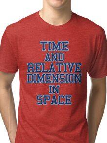 time and relative footballteam.. Tri-blend T-Shirt