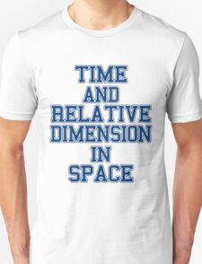 time and relative footballteam.. T-Shirt
