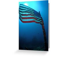 Old Glory on a Sunken Wreck Greeting Card