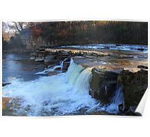 The Upper and Lower Falls, Richmond, River Swale, England Poster