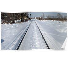 Snowy Rail Poster