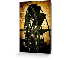 Hudson River Wheel Greeting Card