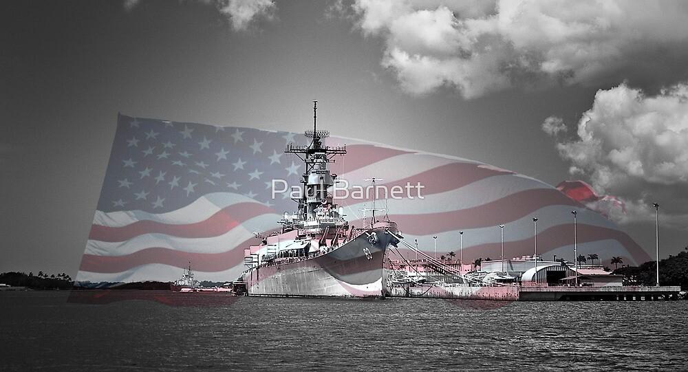 USS Missouri by Paul Barnett
