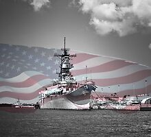 USS Missouri by Paul Barnett