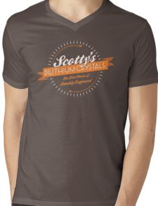 Scotty's Dilithium Crystals Mens V-Neck T-Shirt