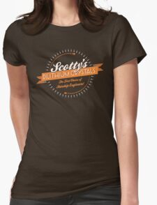 Scotty's Dilithium Crystals Womens Fitted T-Shirt