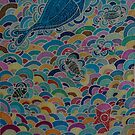 Sea creatures in the rainbow sea by FraghArtizart