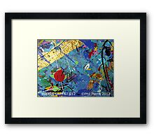 BUBBLE GUM 073.12 Framed Print
