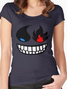 Pokemon fire and water face Women's Fitted Scoop T-Shirt