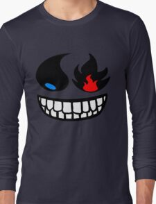 Pokemon fire and water face Long Sleeve T-Shirt