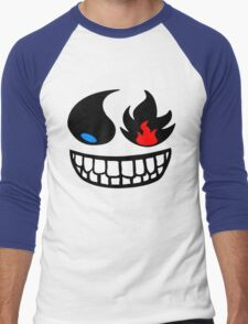 Pokemon fire and water face Men's Baseball ¾ T-Shirt
