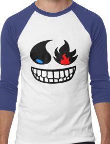 Pokemon fire and water face Men's Baseball ¾ T-Shirt