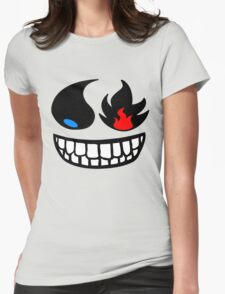 Pokemon fire and water face Womens Fitted T-Shirt