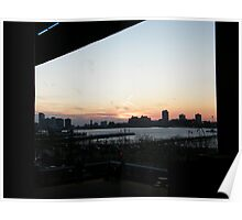 Sunset Over New Jersey, View from High Line, New York Poster