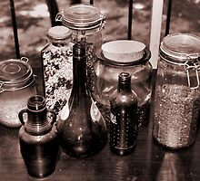 Jars and Juice Bottles by Jay Reed