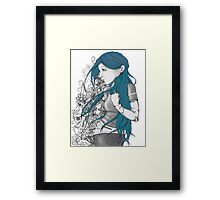 Every thought blue version Framed Print