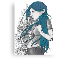 Every thought blue version Canvas Print