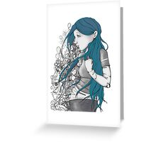 Every thought blue version Greeting Card