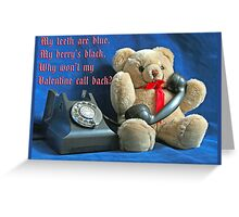 Valentine's Day Blues Greeting Card
