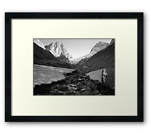 Under glacier (b&w) Framed Print