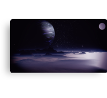 Beneath the Gas Giant Tral Canvas Print