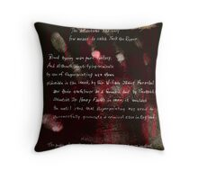 Altered, Blood Type Throw Pillow