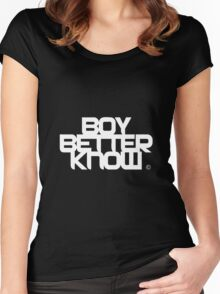 BBK- boy better know  Women's Fitted Scoop T-Shirt