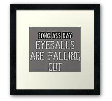 long day Framed Print