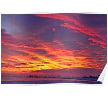 Lagerman Reservoir Sunrise Poster