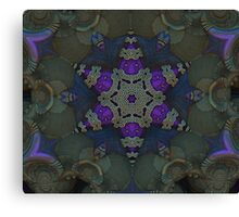 Purple Star Fractal Canvas Print