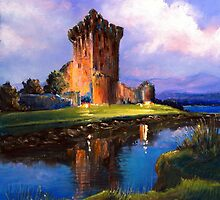 Ross Castle, Killarney, Ireland by Roman Burgan