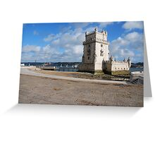 Belem Tower in Lisbon Greeting Card