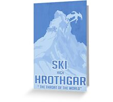 Ski Hrothgar Greeting Card