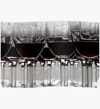 Wine Glasses, Rutherglen, Victoria, Australia Poster