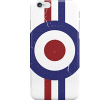 weathered and faded mod target iPhone Case/Skin