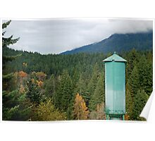 Water Tower at Olympic National Park Poster