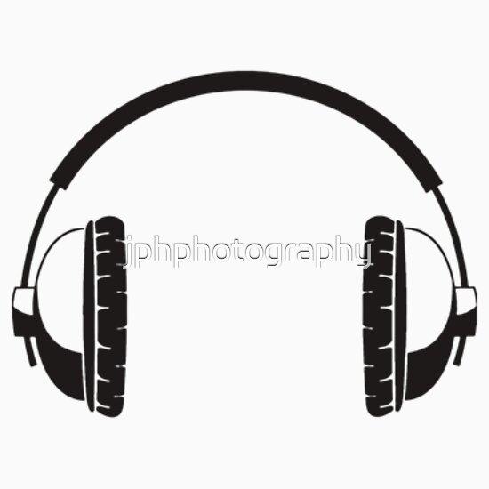 Line Art Headphones : Quot headphones black line art no cord stickers by
