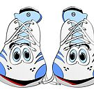 Tennis Shoe Cartoon by Graphxpro