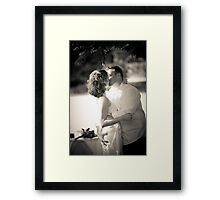 You May Now Grab the Bride. Framed Print