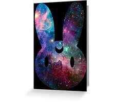 Galaxy Bunny (Black Version) Greeting Card