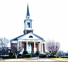 The church on the corner is just a mirage (Roswell St Baptist Church, Marietta, Ga) by Scott Mitchell