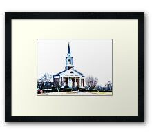 The church on the corner is just a mirage (Roswell St Baptist Church, Marietta, Ga) Framed Print