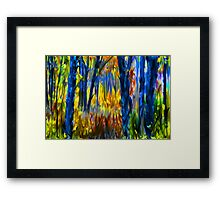 The Finger Painted Forest Framed Print