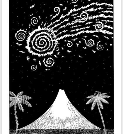 Comet over Taranaki Sticker
