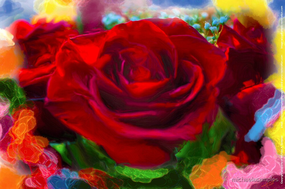 Rosey Colors by michaelasamples