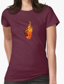 I Will Burn You Womens Fitted T-Shirt