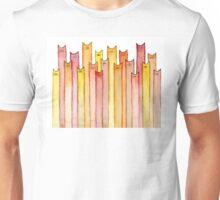 Cats Pattern Autumn Colors Unisex T-Shirt