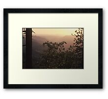 Sunset, Yosemite National Park Framed Print